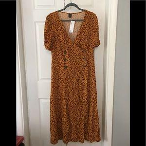 UO Wrap Midi Dress